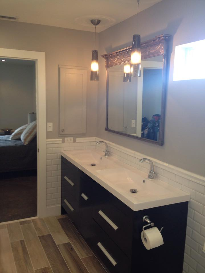 Replace bath vanity, floating vanity