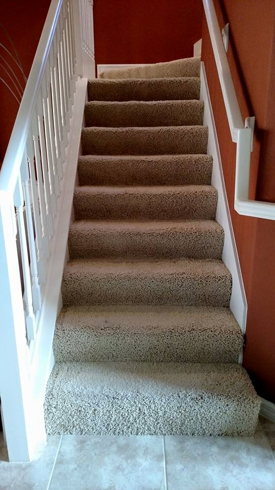 Remove carpet on stairs