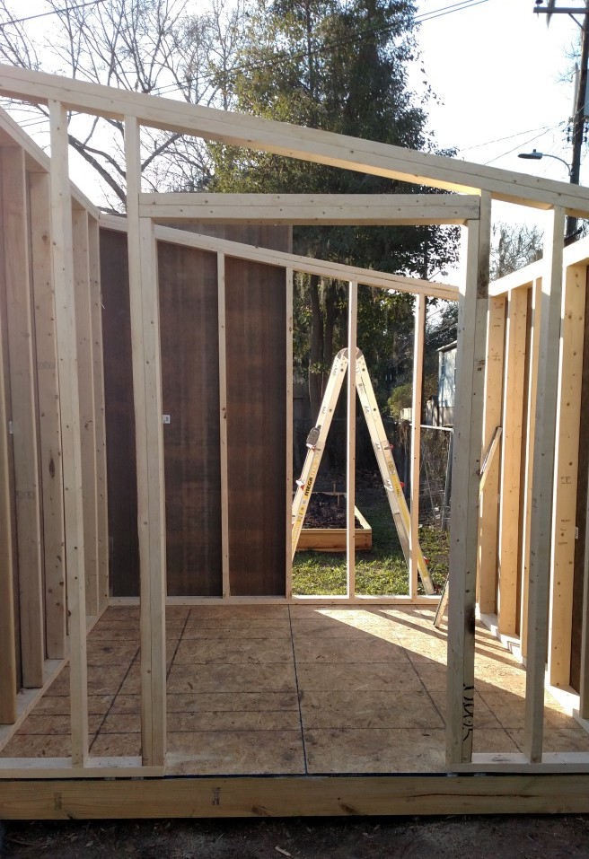 Shed size and shape built to fit the job